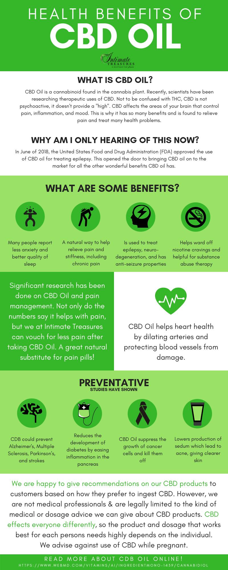 health benefits of cbd oil infographic